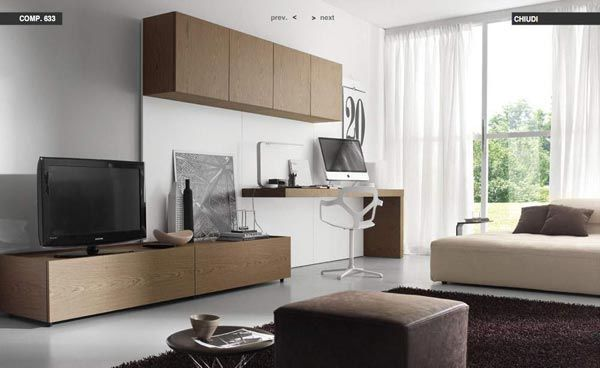 Study And Living Tv Console Table Cabinet Simple Living Room