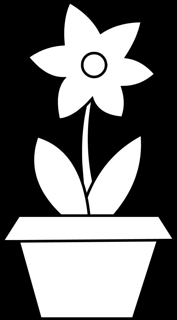 Flower Pot Clipart Printable Flower Coloring Pages Flower Printable Flower Coloring Pages