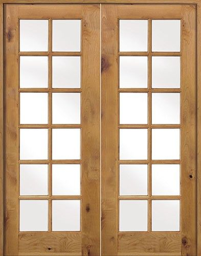 8 0 Tall Interior French 12 Lite Knotty Alder Prehung Double Wood