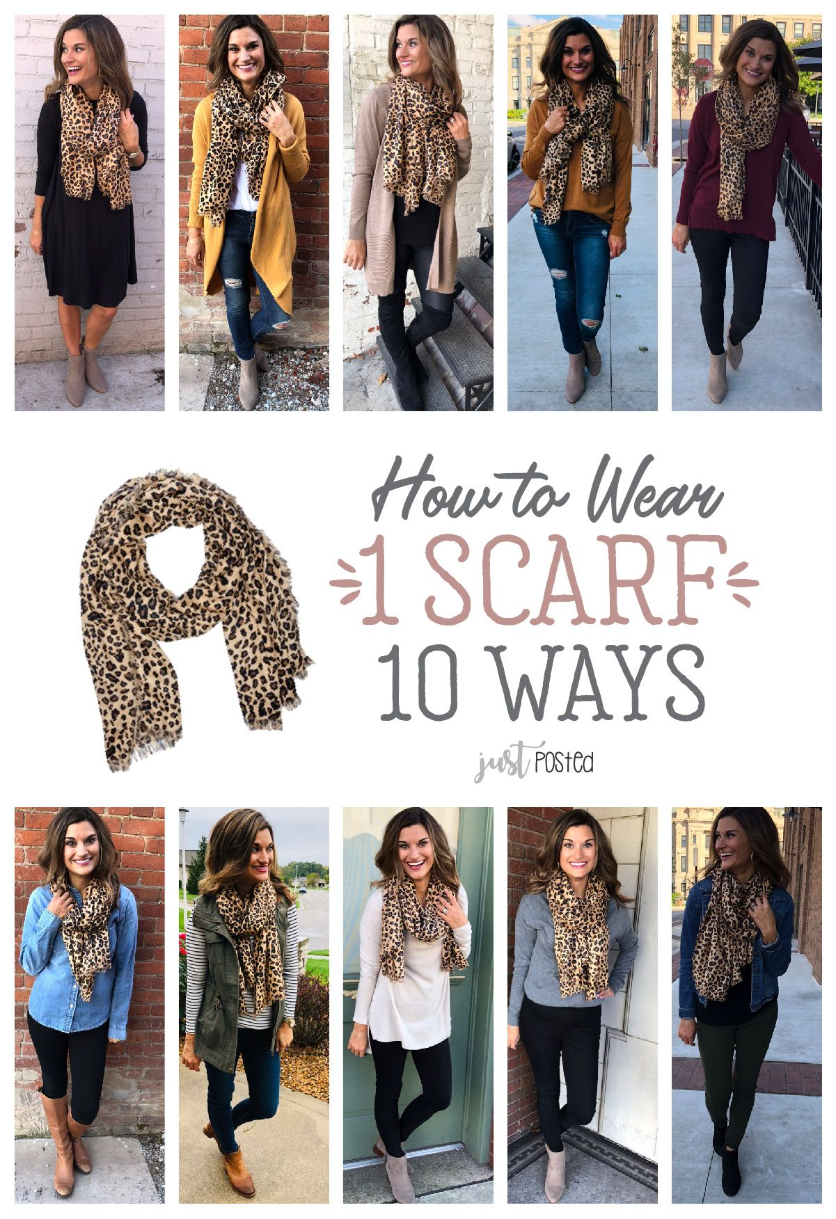 20 Outfits With Leopard Scarves To Try advise
