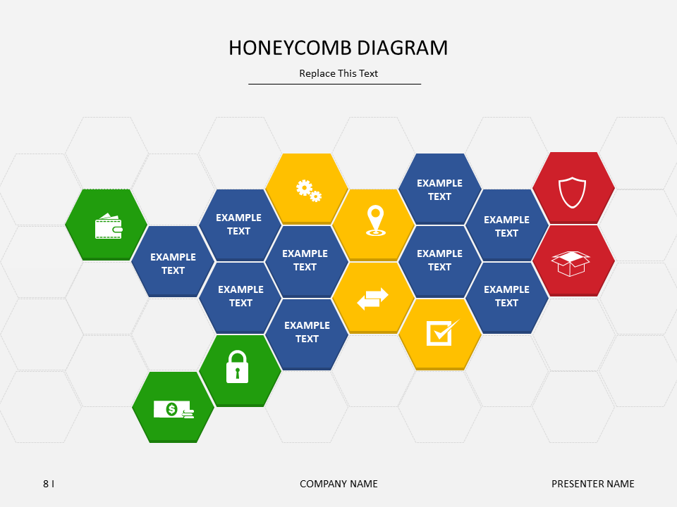 Download This Honeycomb Diagram Slide From Jan  To  For Free