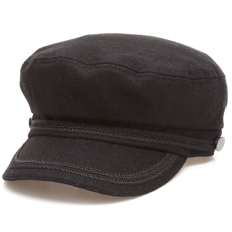 MIRMARU Women s Winter Greek Sailor Fisherman Cabbie Cap Newsboy Baker boy  hat with Elastic Band ( c6c4370cd5a6