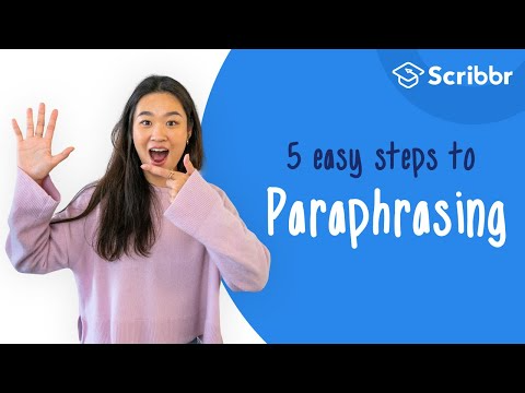 Paraphrasing Mean Putting A Passage Of Text In Your Own Word Without Changing It Meaning When You Paraphrase Alwa Writing Instruction Easy Step