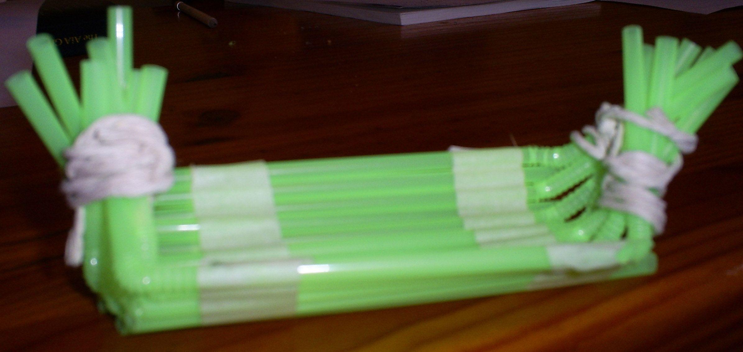 how to make chopsticks out of straws