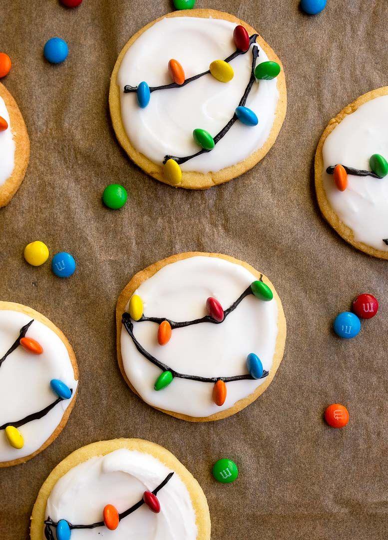Christmas Lights Cookies for Santa! A small batch sugar