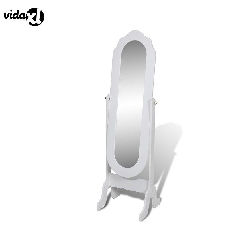vidaXL Fashion Solid Dressing Mirror Mirror Tilts White Elegant Home
