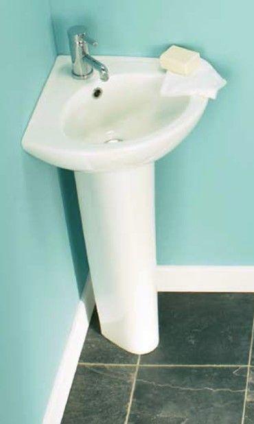 Bathroom Sinks Ebay Uk tribune 540mm 1 tap hole corner basin and pedestal | corner basin