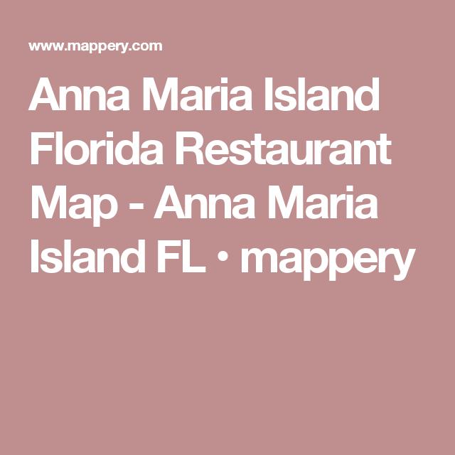 Anna Maria Island Florida Map.Anna Maria Island Florida Restaurant Map Anna Maria Island Fl