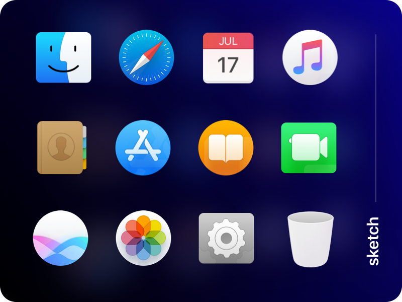 Mac Os Dock Icons Vectorized In 2020 Mac Os Apple Icon Mac Os Icons