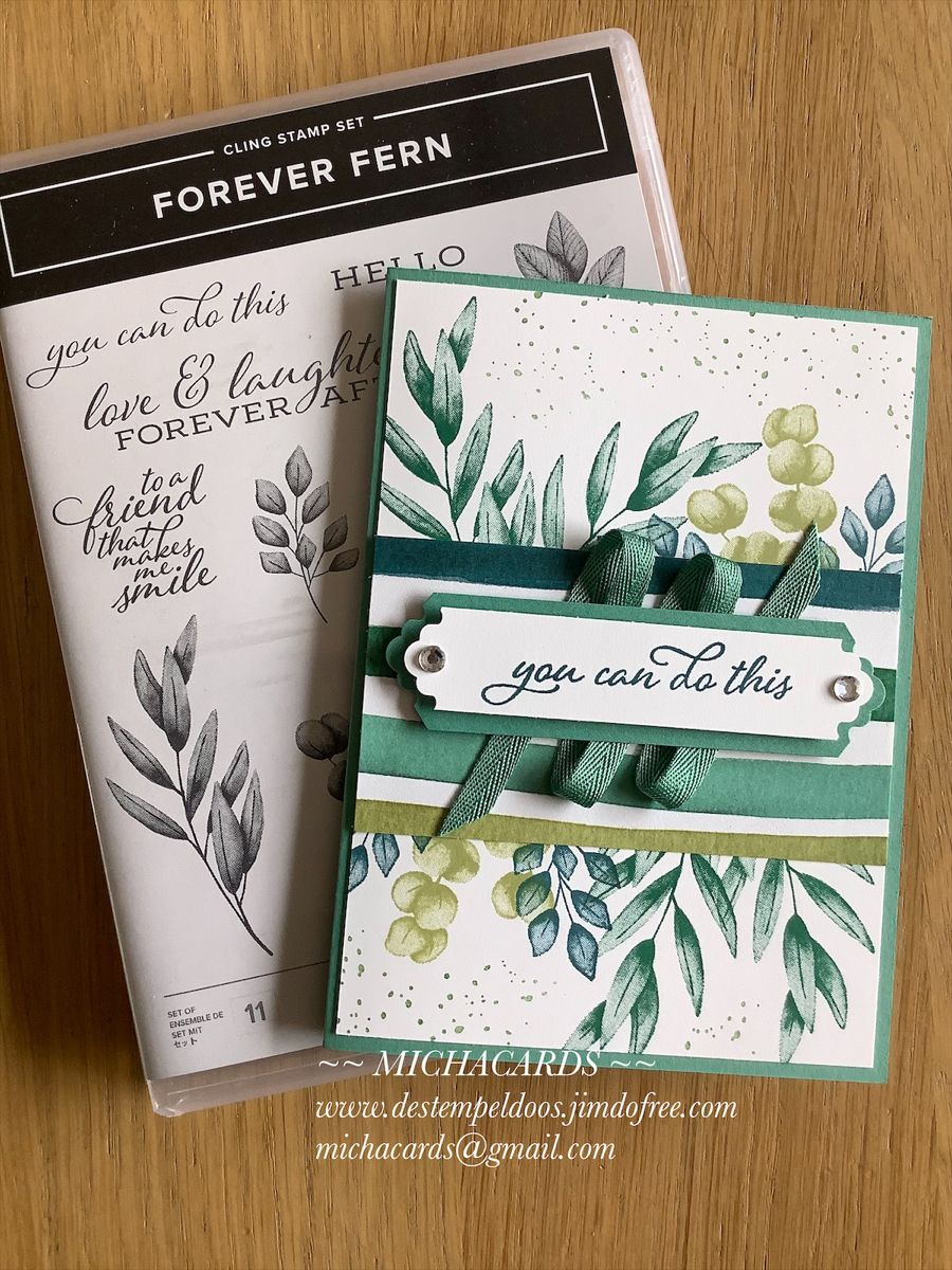 Stampin'Up kaart, Forever fern in 2020 Stampin up, Stamp