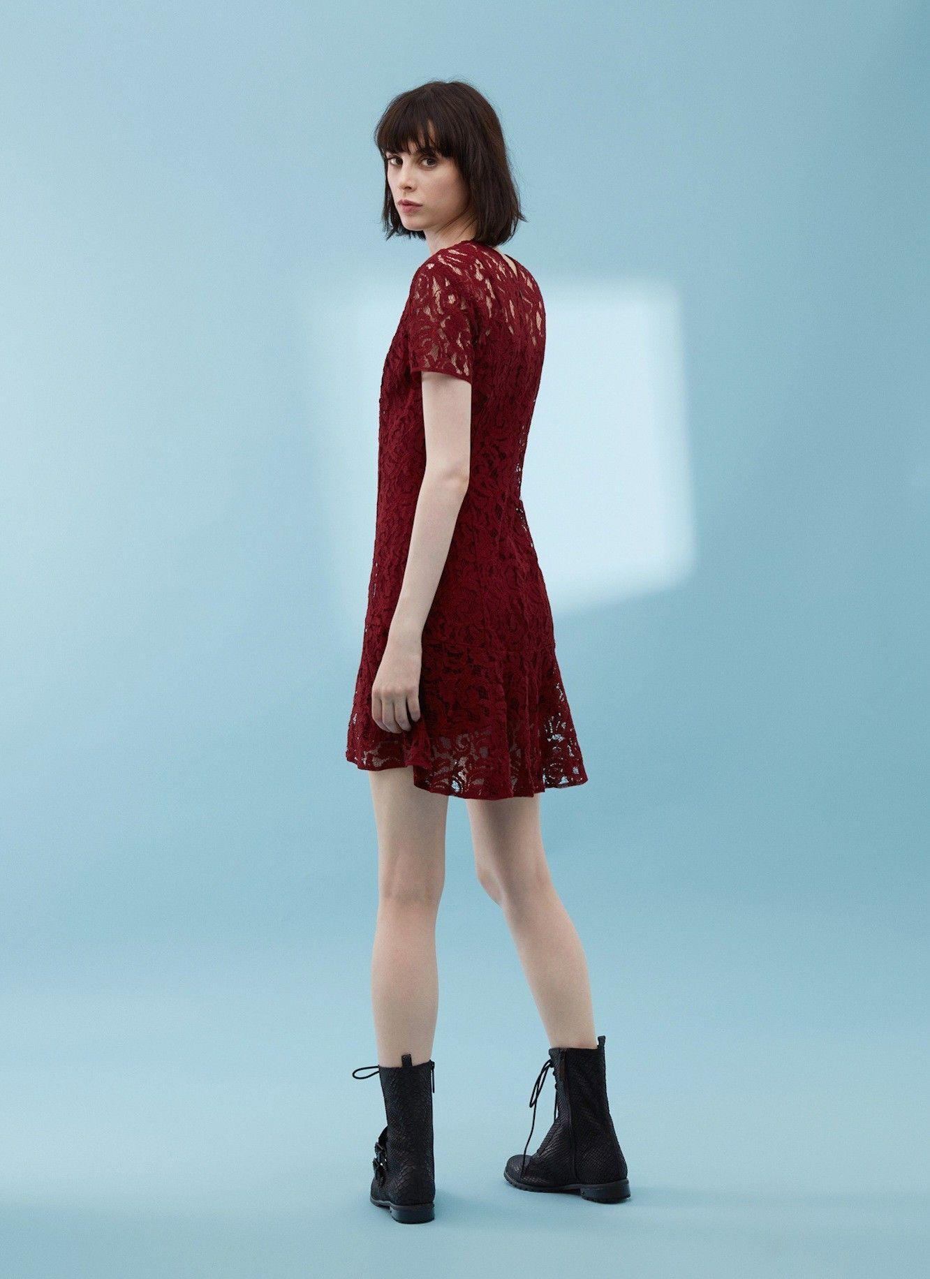 Vestido de encaje con forro vestidos adolfo dominguez for Vestidos adolfo dominguez outlet online