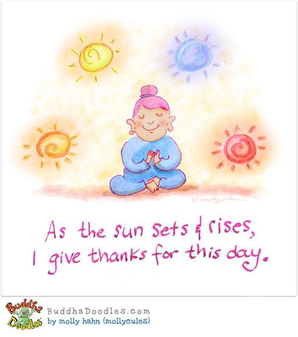 Gratitude Buddha Quotes: Buddha Doodle - Sun Rise, Sun Set