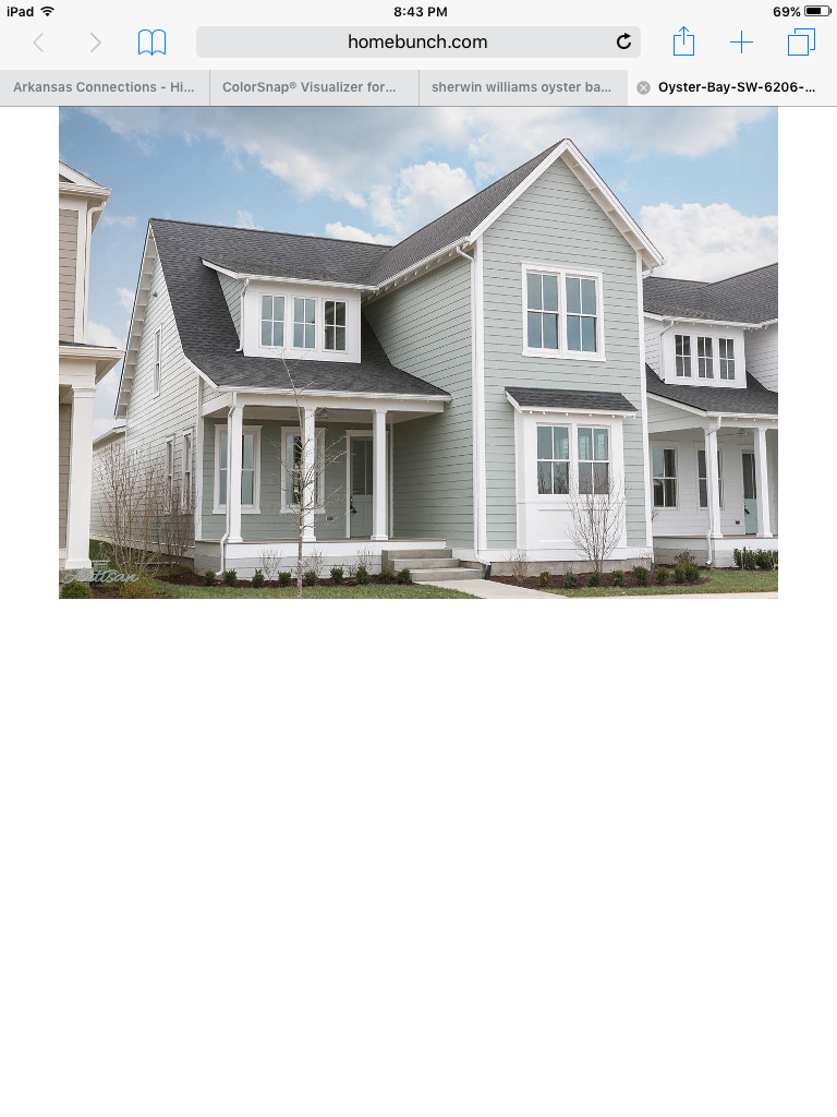 Oyster Bay Sherwin Williams exterior color   Dream Dwelling ...