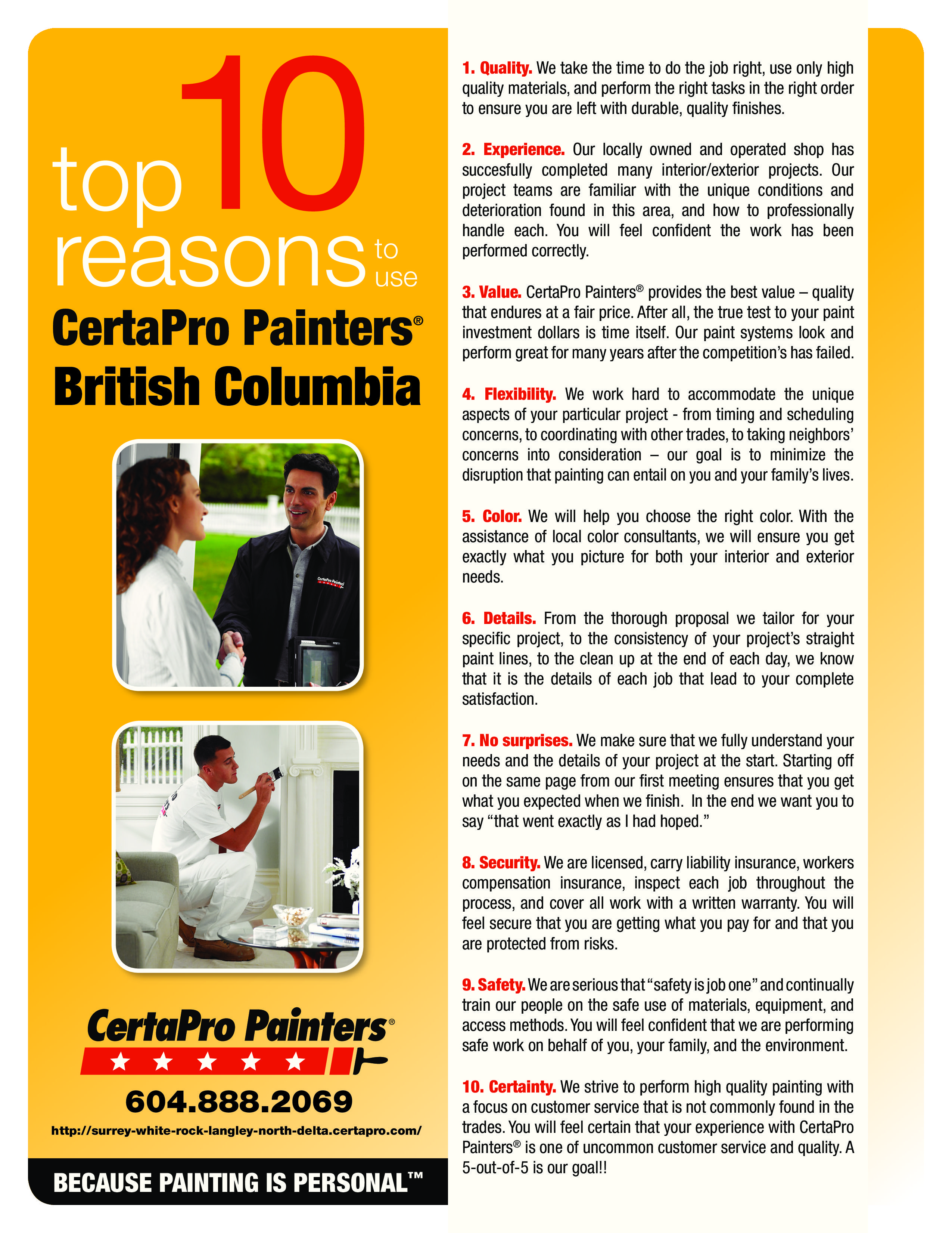 Top 10 Reasons to Choose CertaPro Painters | The CertaPro