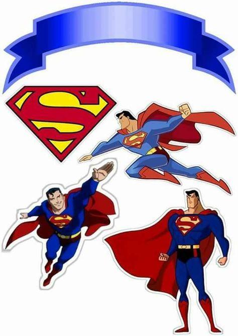 Topo De Bolo De Papel Super Man 2 Aninhos Do Alemão Superman