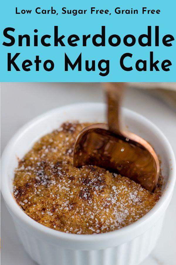 Snickerdoodle Keto Mug Cake | Recipe (2020) | Keto mug ...