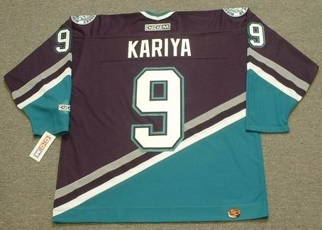 589a449969a PAUL KARIYA Anaheim Mighty Ducks 2003 CCM Throwback Away NHL Hockey Jersey
