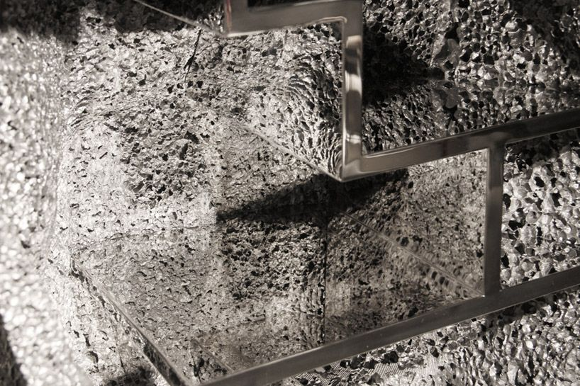 studio swine forms metallic geology cabinets for pearl lam galleries