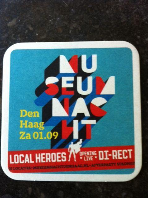 Museum Nacht Den Haag #bierviltjes #qrcode #verspreiding #cultureleondersteuning