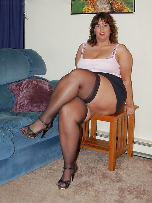 Fat thighs in stockings