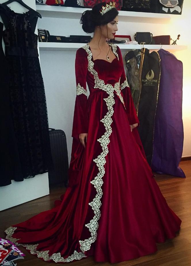 Burgundy Prom Dresses Velvet Prom Dresses Muslim Prom Dress Long Sleeves Evening Gowns Wedding Party Dress Velvet Prom Dress Long Sleeve Evening Gowns Muslim Prom Dress
