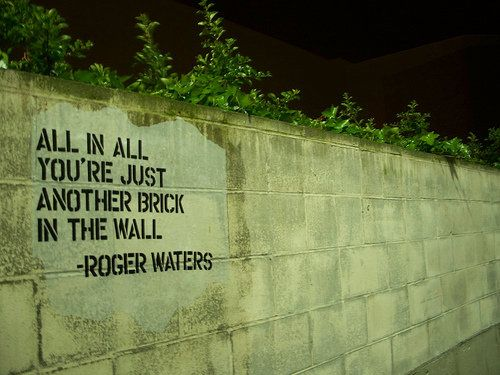 Song Lyrics All In All You Re Just Another Brick In The Wall