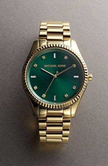 374068d8d30d Michael Kors  Blake  Bracelet Watch - emerald green face - fall 2013 color  of the season