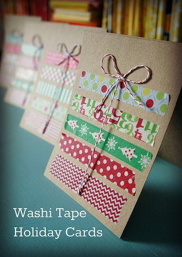 washi tape christmas stitch weihnachtskarten basteln. Black Bedroom Furniture Sets. Home Design Ideas