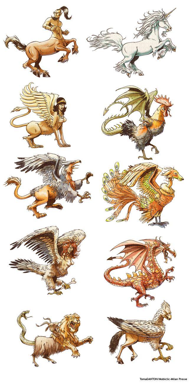 Jeu- Les créatures mythologiques   Créature fantastique ...