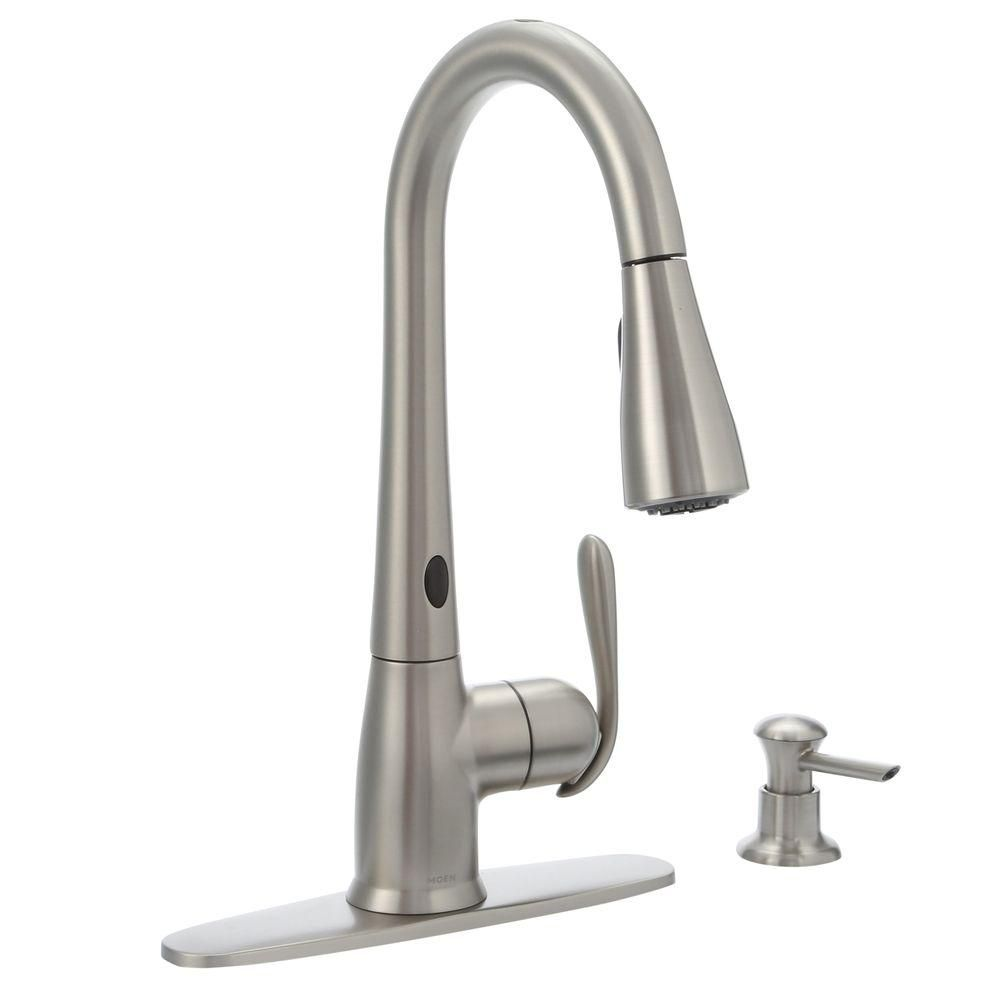 MOEN Haysfield Single-Handle Pulldown Sprayer Touchless ...