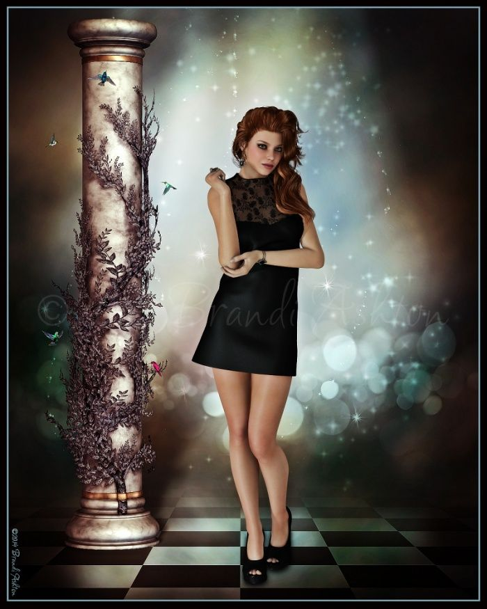 Artwork by Brandi (Renderosity) // Dynamic Shift Dress by Frequency