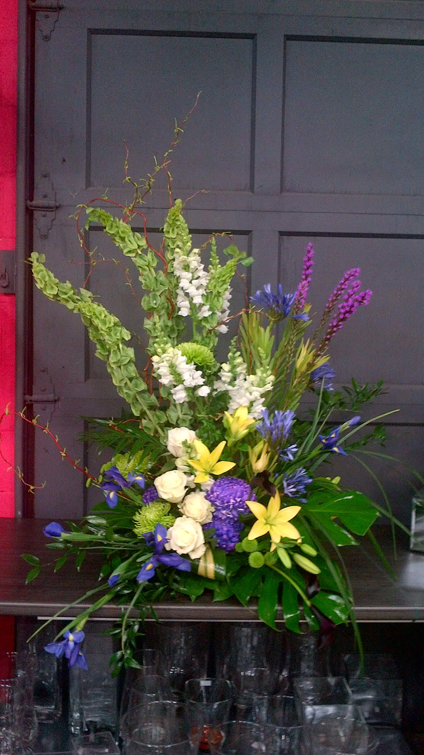 For a celebration of life. Large flower arrangements