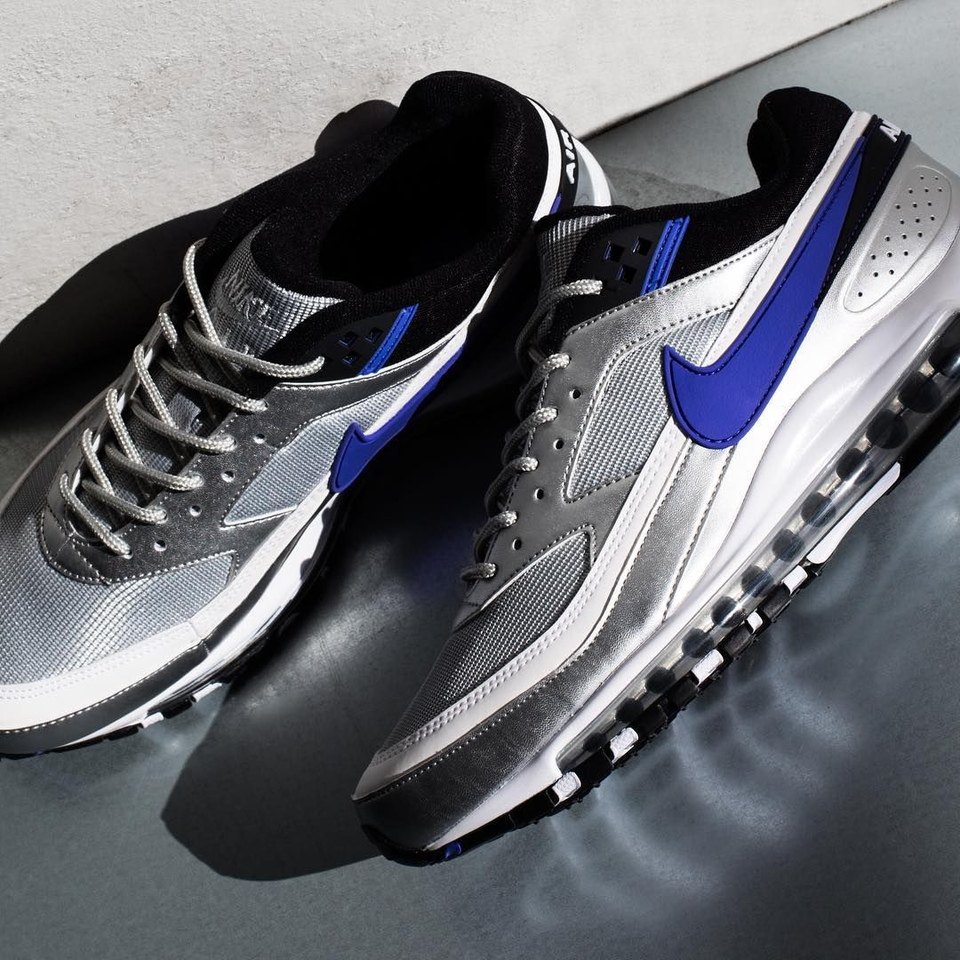 "60ddfe4532 Nike Air Max 97/BW ""Metallic Silver/Persian Violet/Black"" // 