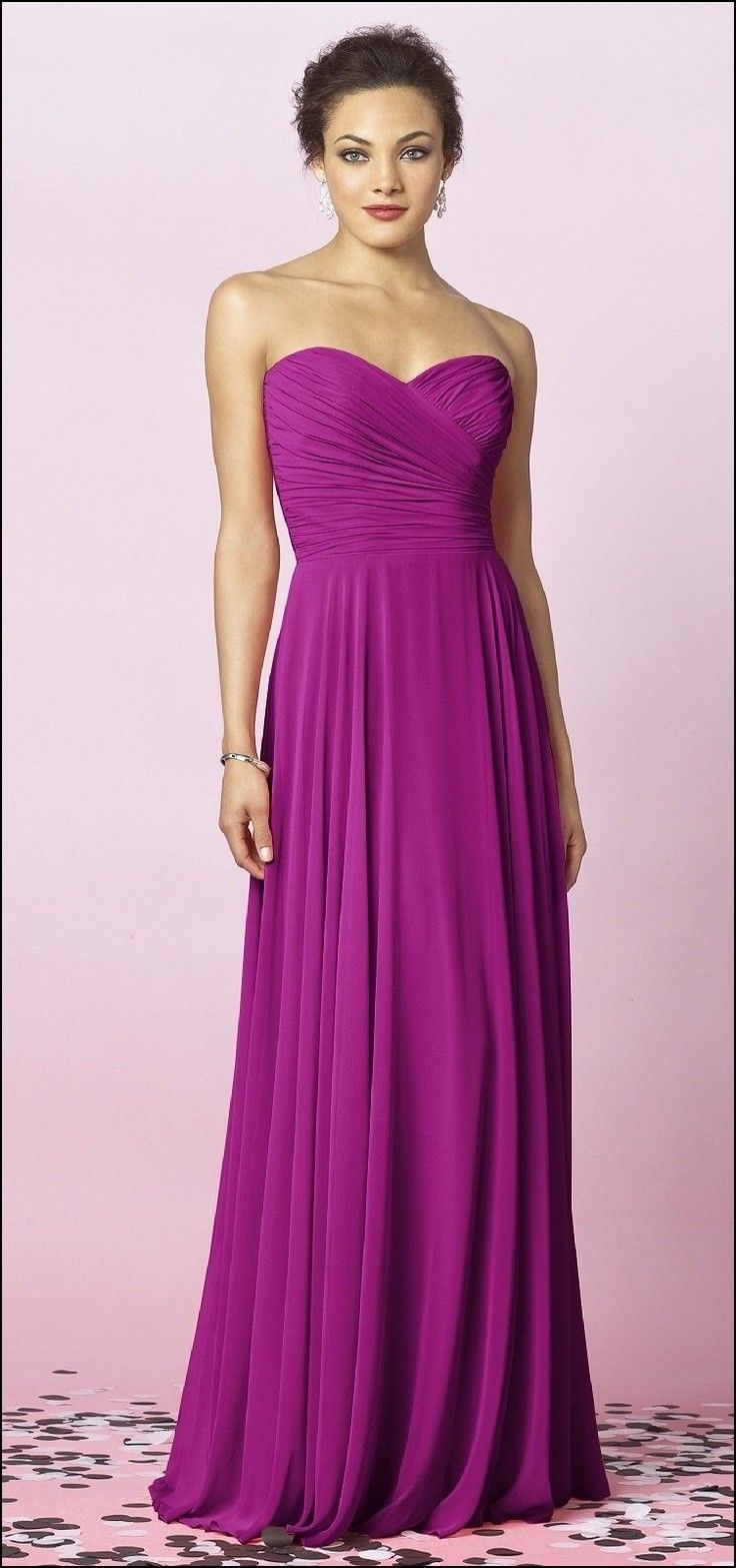Magenta Gown Bridesmaid | Dresses and Gowns Ideas | Pinterest | Gowns