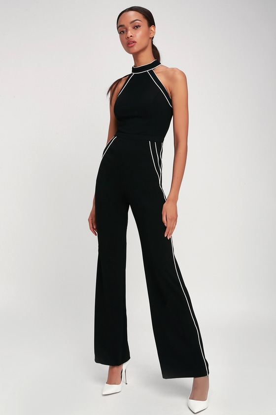 d9d084caed Mod Babe Black and White Sleeveless Jumpsuit in 2019