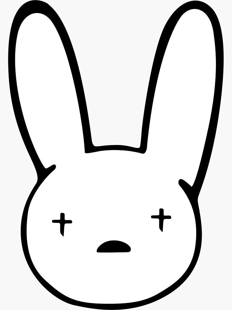 Bad Bunny Sticker Best Quality - Bad Bunny Logo Decal X100pre Sticker by carpert