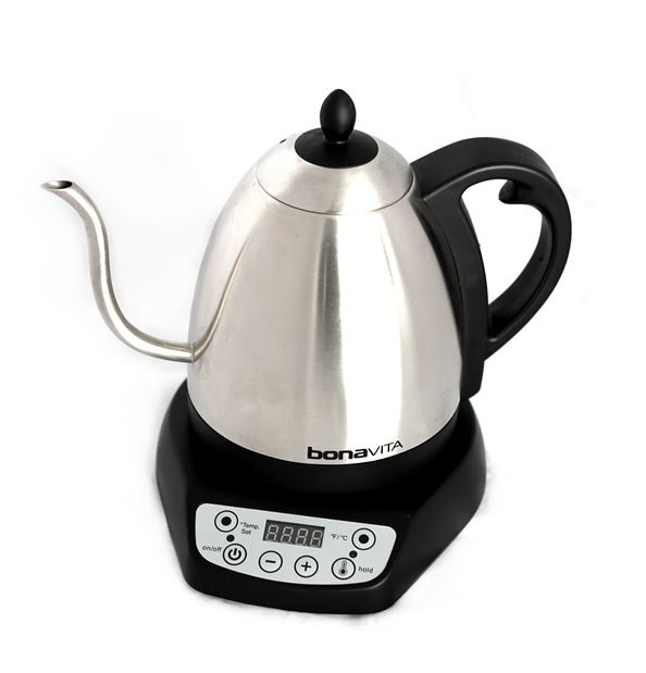 BonaVita 1L Electric Kettle - adjustable temperature, will hold temp above 60 degrees within a degree for up to an hour