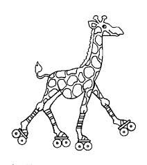 Free Colouring Pages Roller Skates Google Search Giraffe