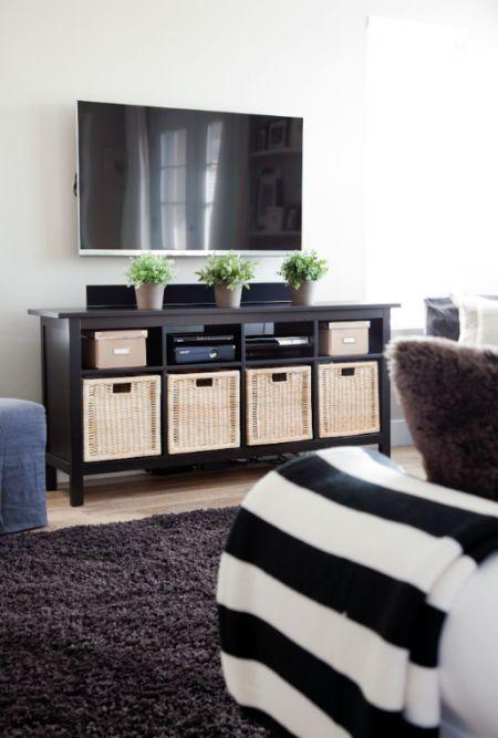 35 Prácticas Ideas Para Organizar Tu Casa. Ikea Hemnes Sofa Table ...
