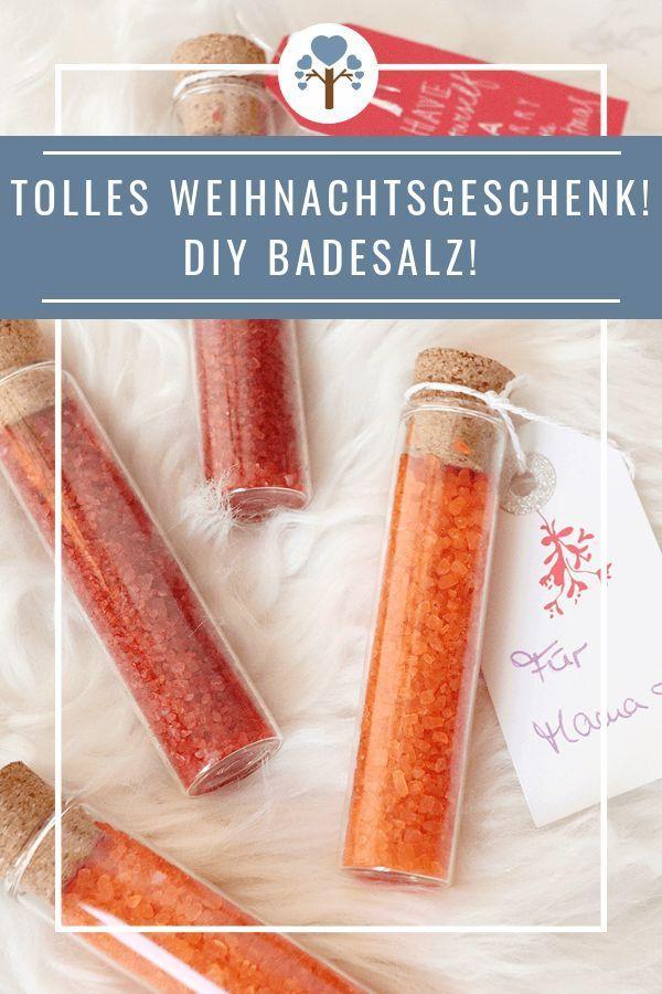 DIY Badesalz als wohltuendes Geschenk von Herzen! - Green Miracle #weihnachtsgeschenkfreund