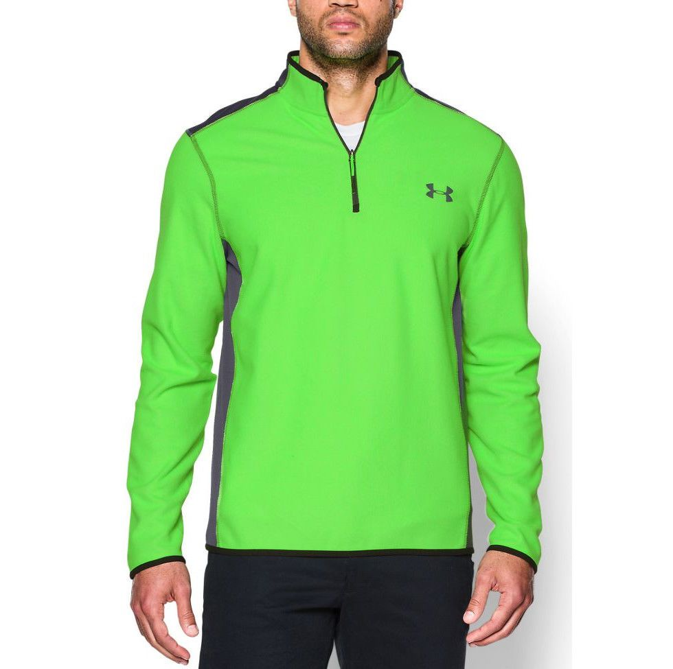 7bc768527f RARE UNDER ARMOUR MENS COLDGEAR INFRARED FLEECE 1/4 ZIP TOP JACKET ...