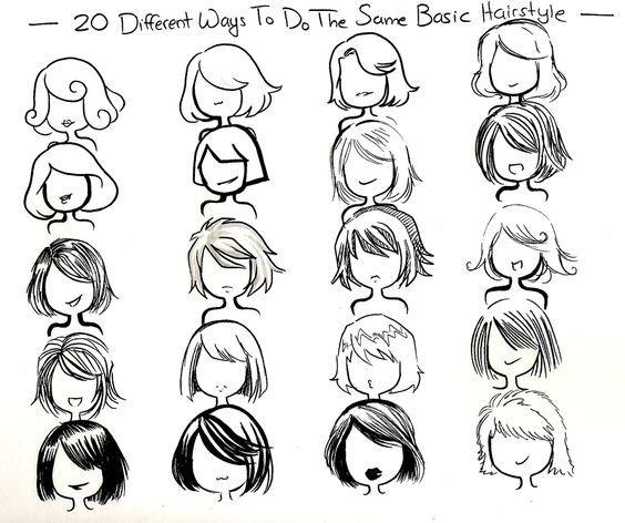 Image Result For Different Hair Art Styles Sketsa Cara Menggambar Menggambar Rambut