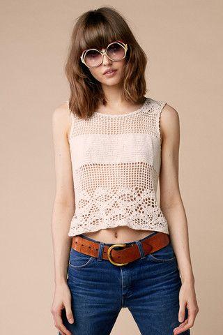 Jane Birkin Crochet Top