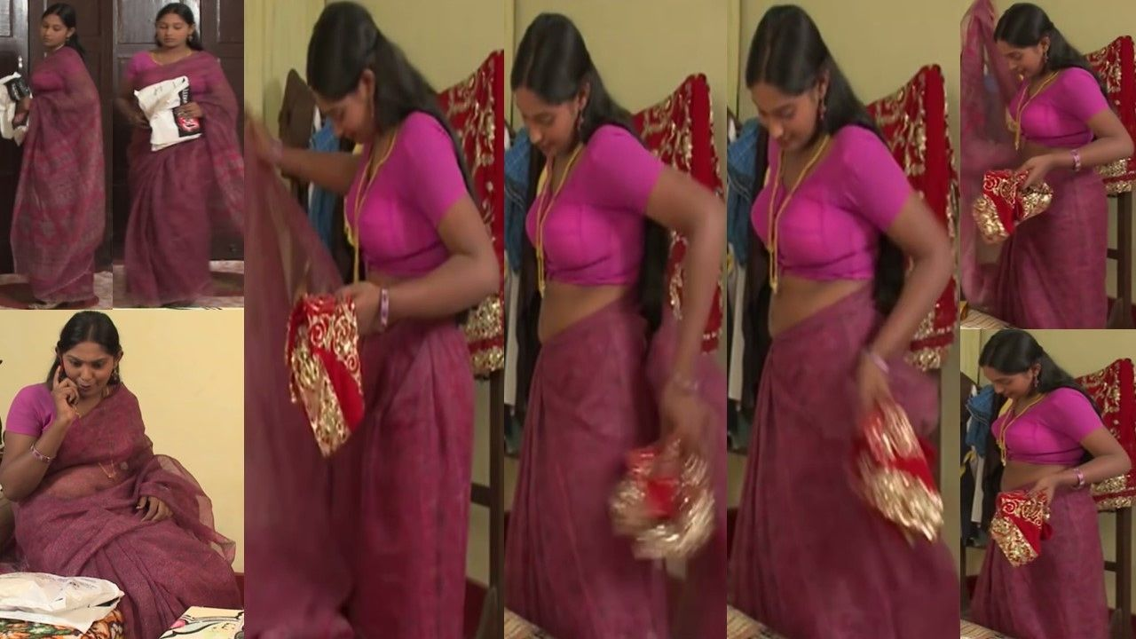 Tamil Tv Serial Actress Hotsexy Saree Removing Scene From
