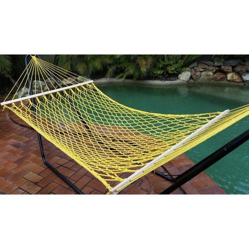 medium cotton rope hammock with spreader bar yellow medium cotton rope hammock with spreader bar yellow   buy hammocks      rh   pinterest