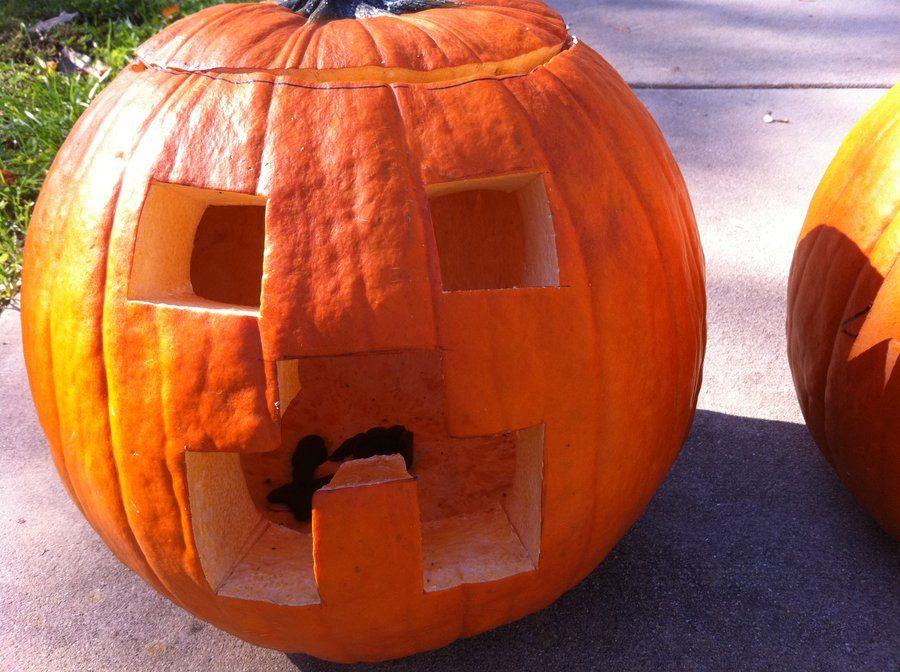 Minecraft creeper carved pumpkin i heart halloween