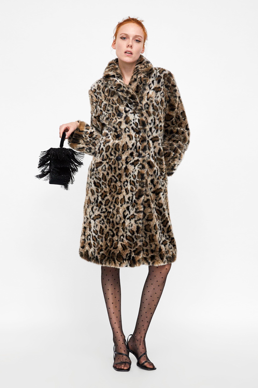 4caeb8cb Image 1 of ANIMAL PRINT TEXTURED COAT from Zara | Christmas Wish ...