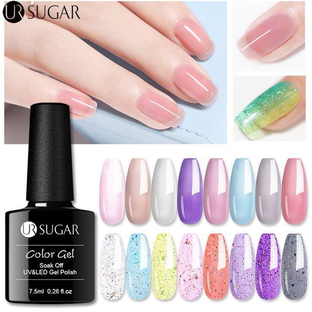 UR SUGAR 7.5ml Soak Off UV Gel Gel Polish Nail Art Glitter