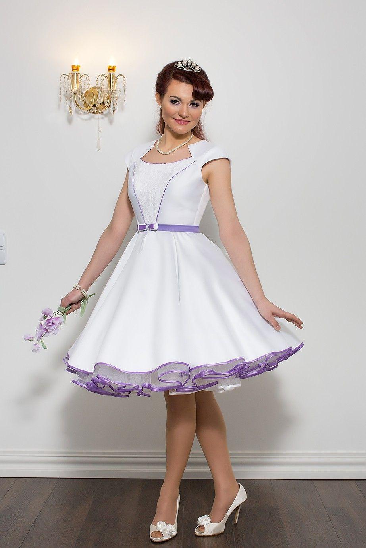 Everything Feminine Short Wedding Gowns Tea Length Dress Boho Colored: Poofy Purple Short Wedding Dresses At Reisefeber.org