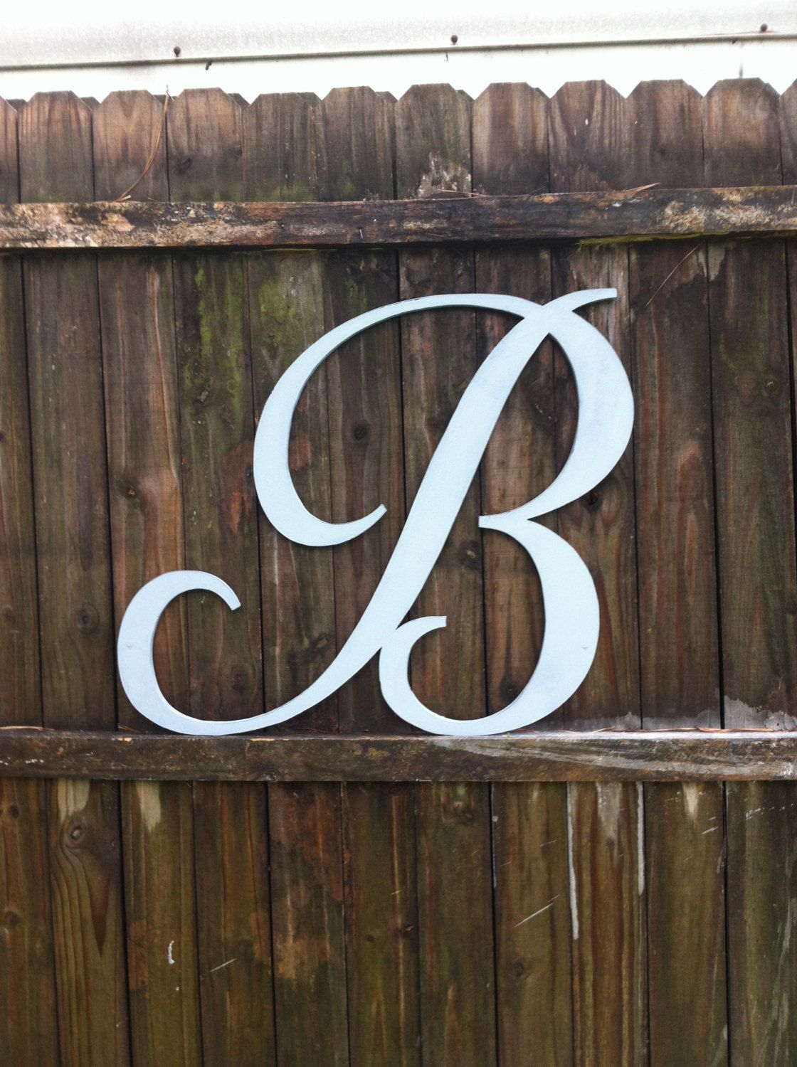 hand cut wood letter b any letter a z any font any color script vintage style cottage signs home decor wedding props by vintageshore on etsy